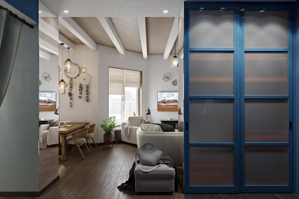 Можно шкаф поставить почти в центре квартиры! При условии что торец зеркальный, а задняя стенка белоснежная, с полочками для декора. При этом, шкаф удачно зонирует входную зону от мягкой зоны в гостиной