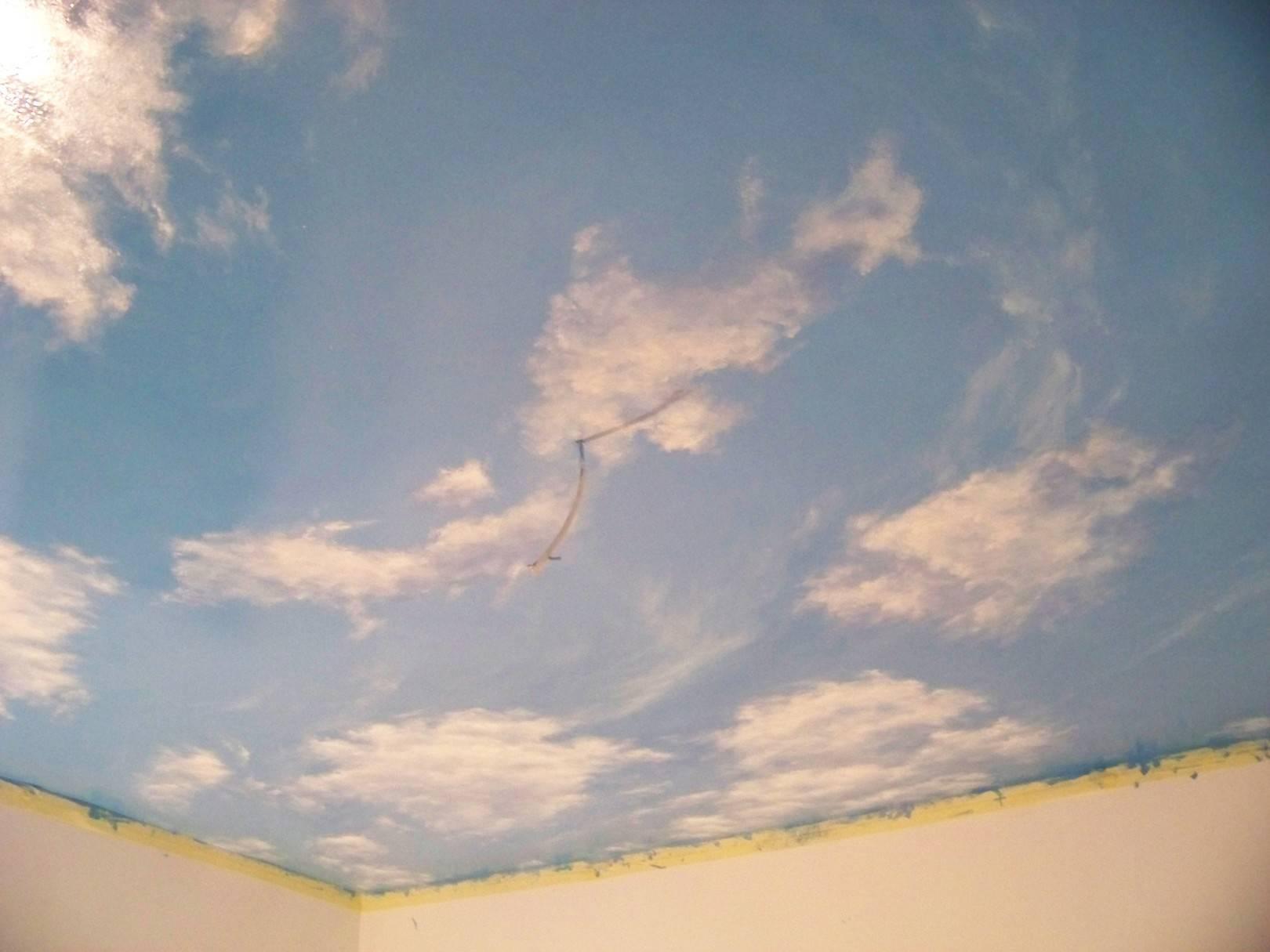 """Роспись потолка """"Облачно"""""""