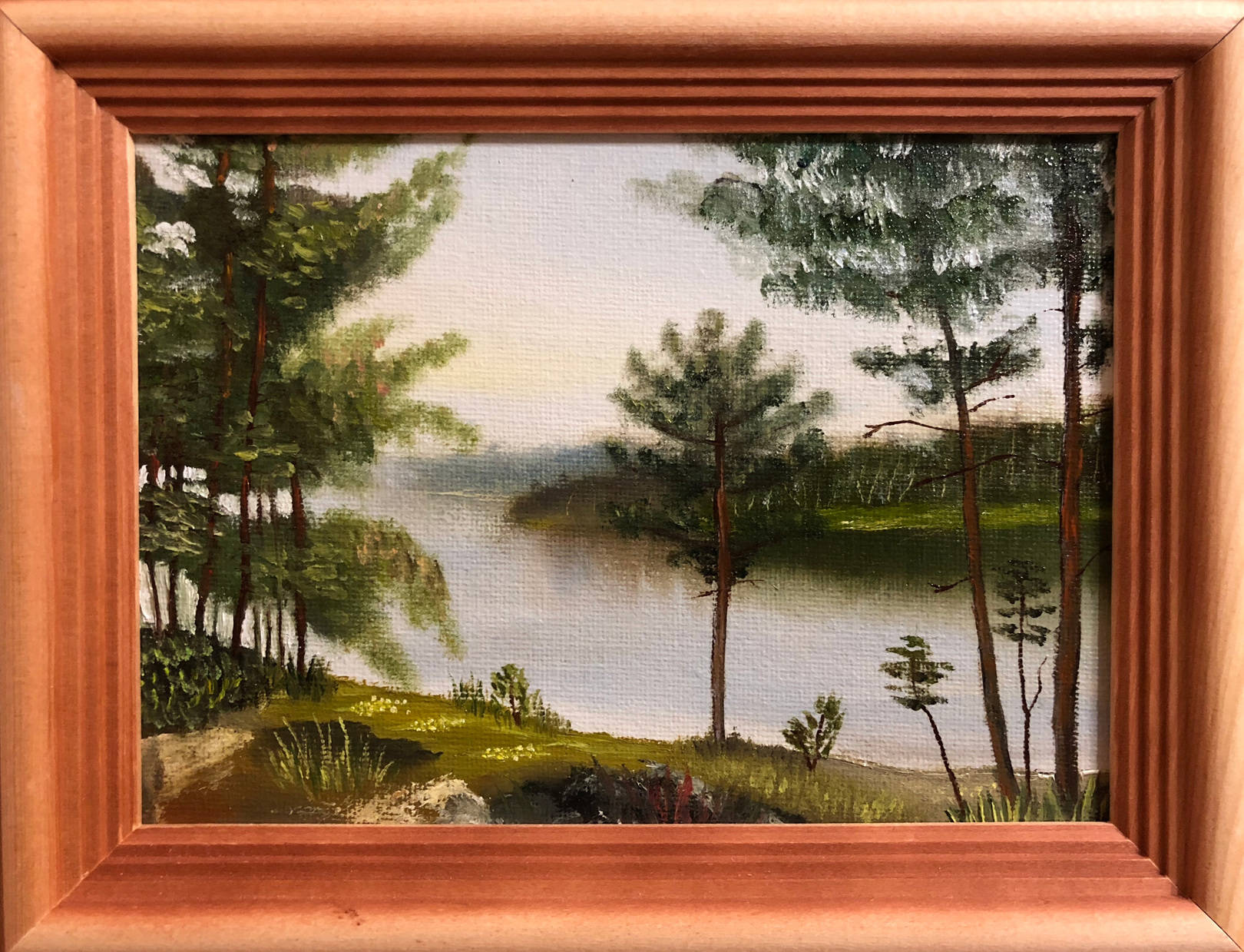 Summer forest with river (18x24)