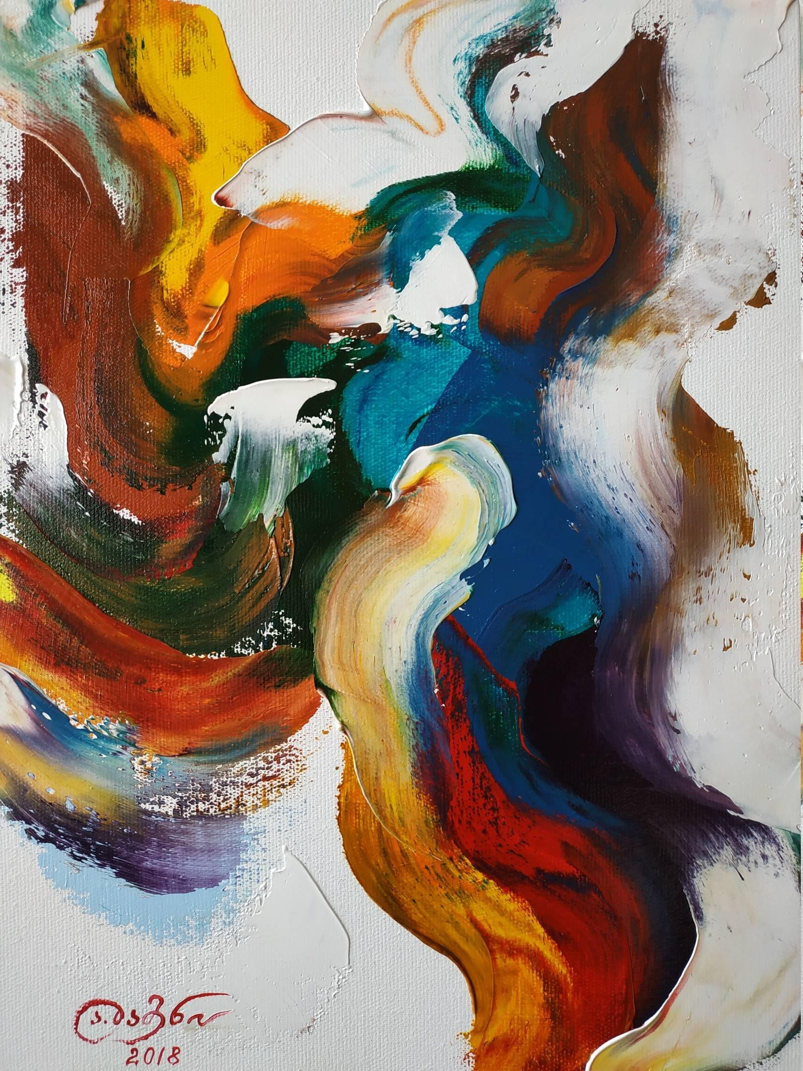 «Танец»    холст, масло «Dance»      oil on canvas    40x30, 2018