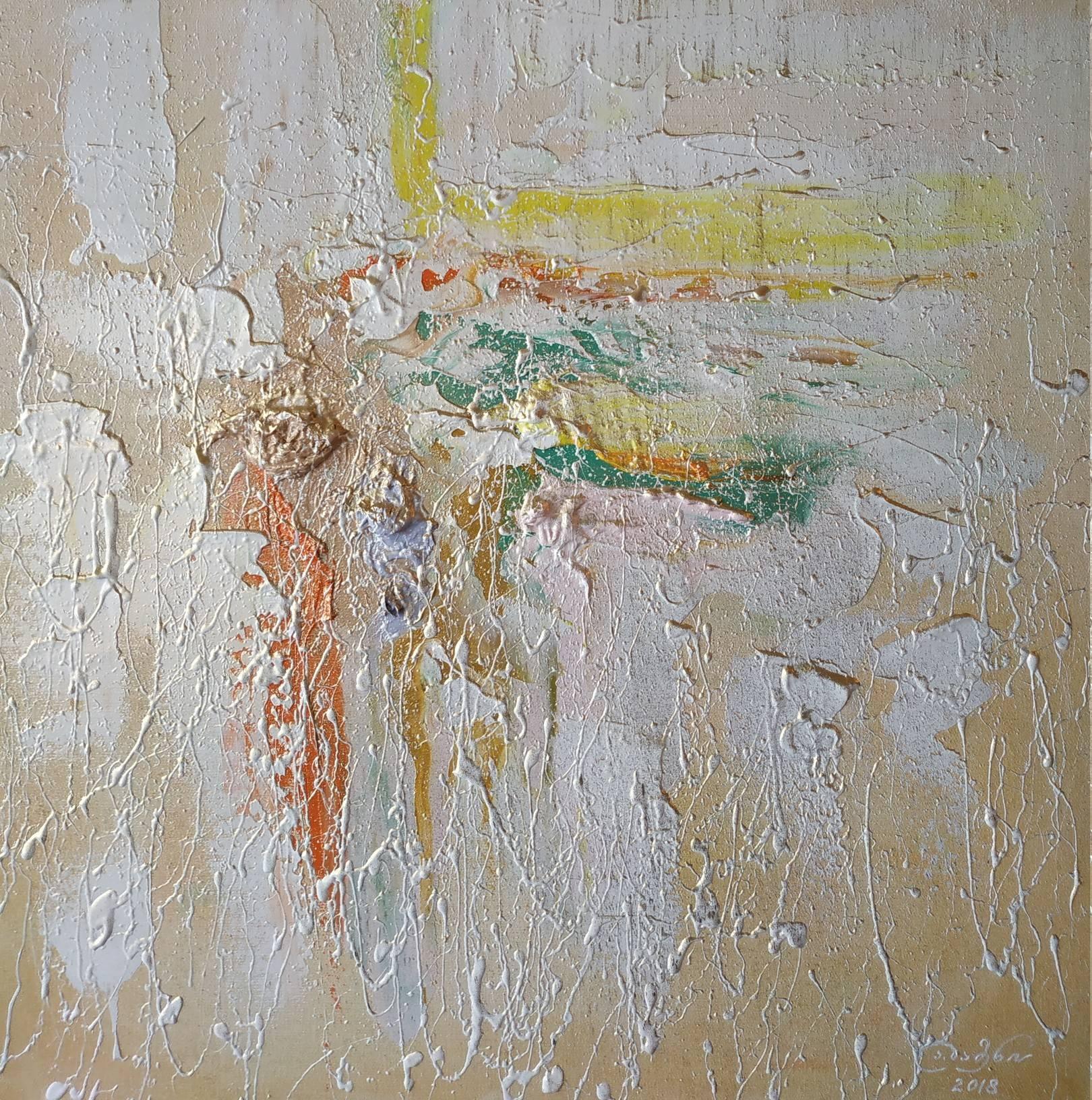 «Танец солнечного лучика»    холст, масло «Sunbeam dance»                       oil on canvas    50x50, 2018