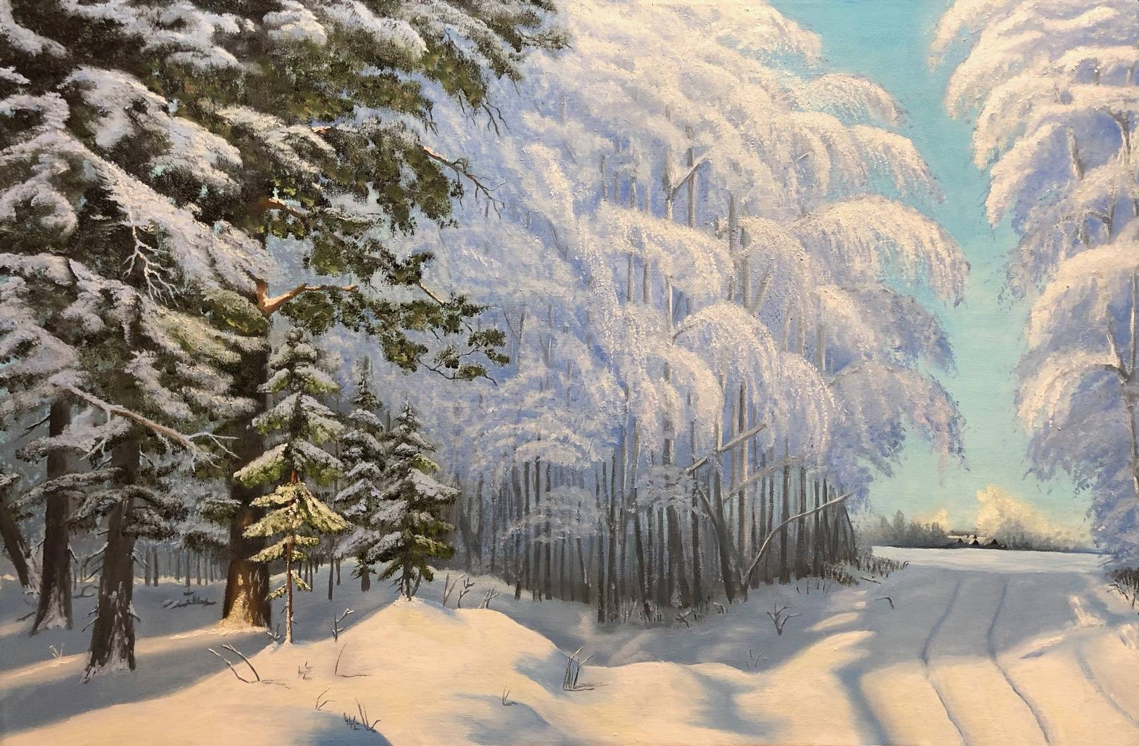 Winter day in the forest (60x90)