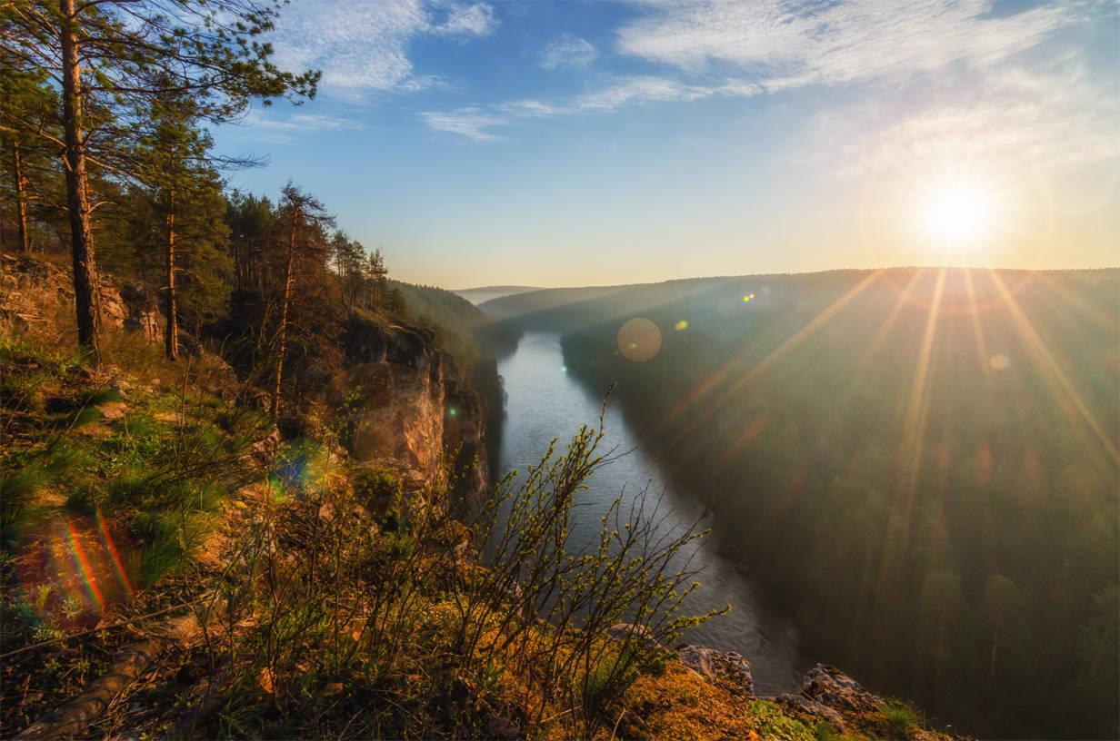 Южный Урал, река Ай. Восход