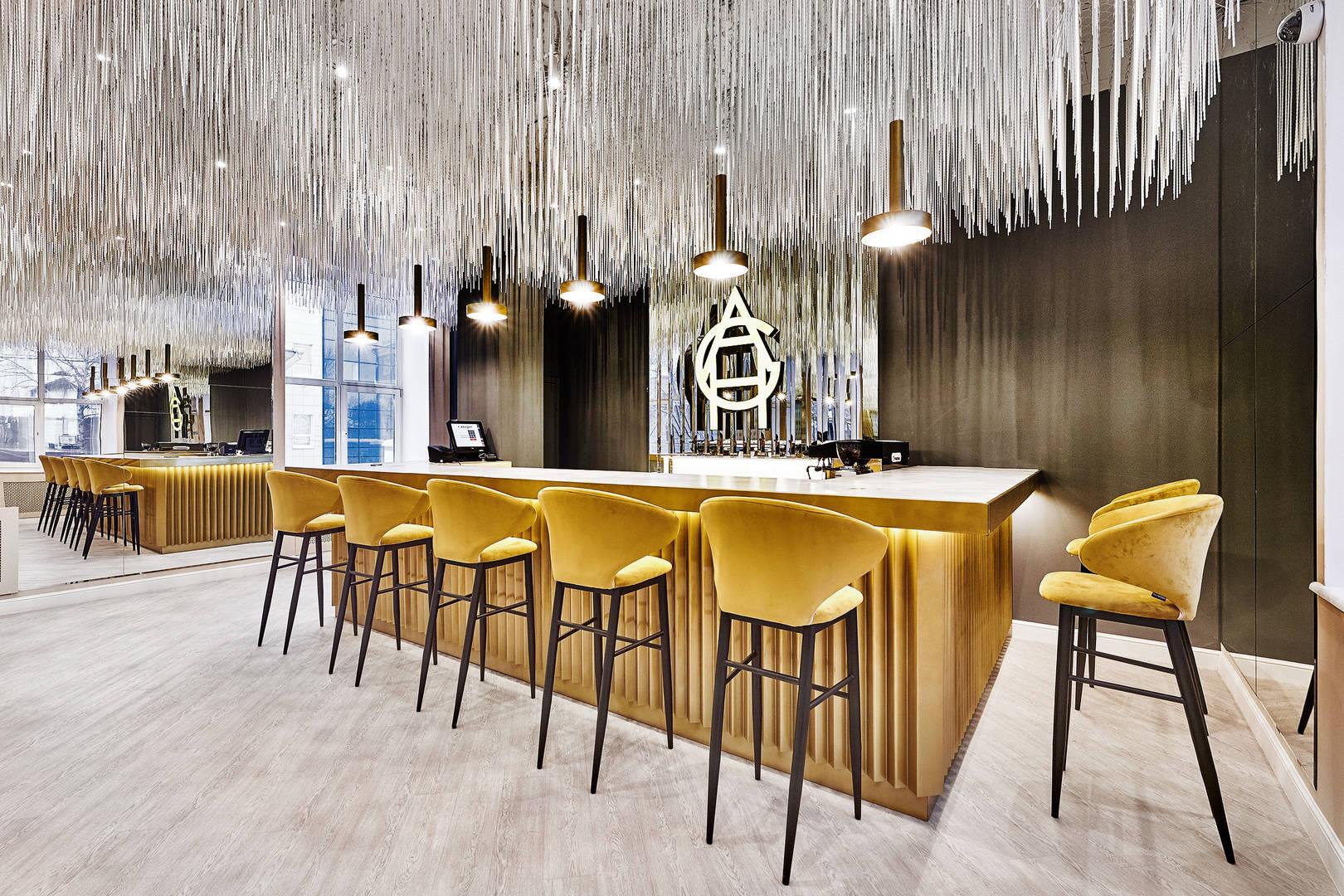 Дизайн студия ALLARSTDESIGN (дизайнер Артемий Саранин), закончила работу над проектом Aura Grand Hall на Урале (г. Пермь).