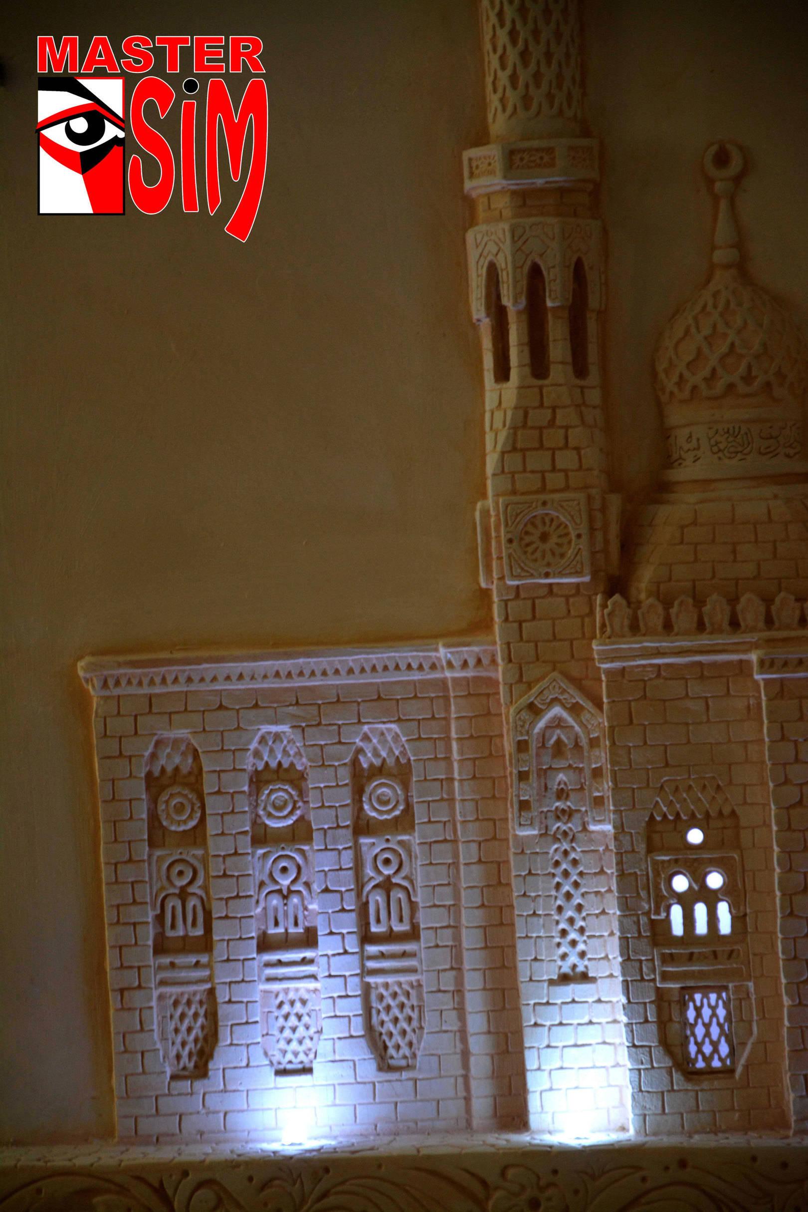 Барельеф мечети Дубая