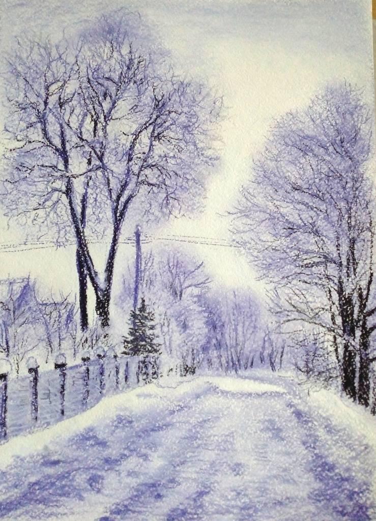 Зима в моей деревне...