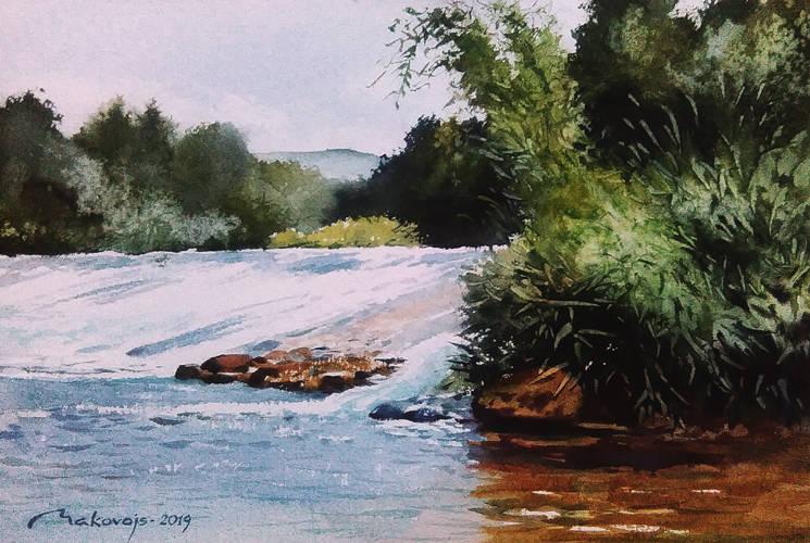 ,,Пороги,,Август 2018 г. Вспоминая путешествие на каноэ по живописнейшей реке Ирландии.