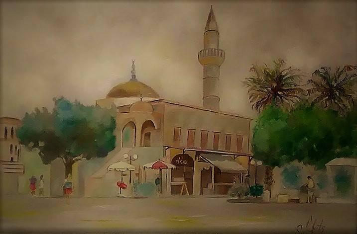 Мечеть, холст, масло, 20*30, 2018 г
