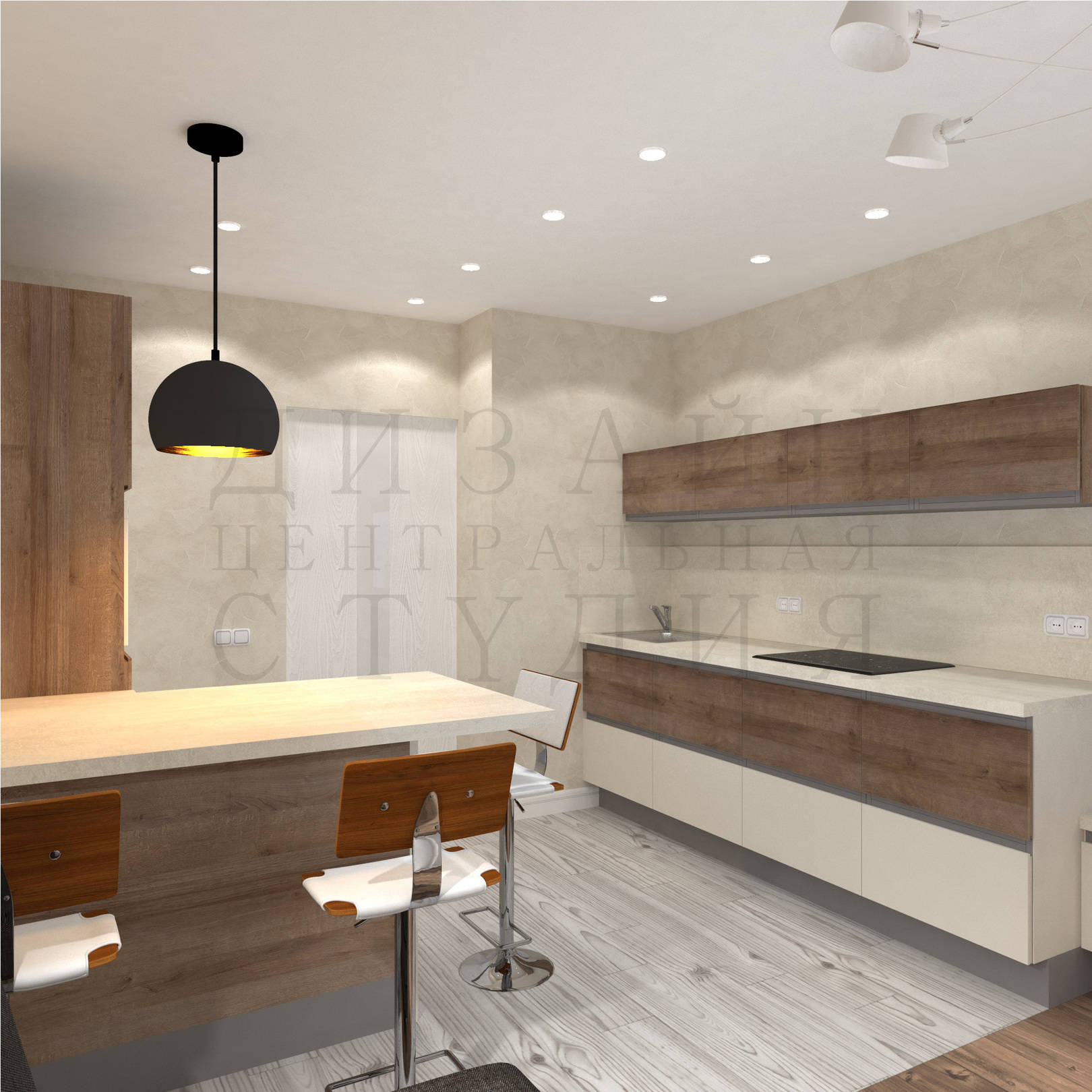 Дизайн интерьера современной кухни centraldesignstudio.ru