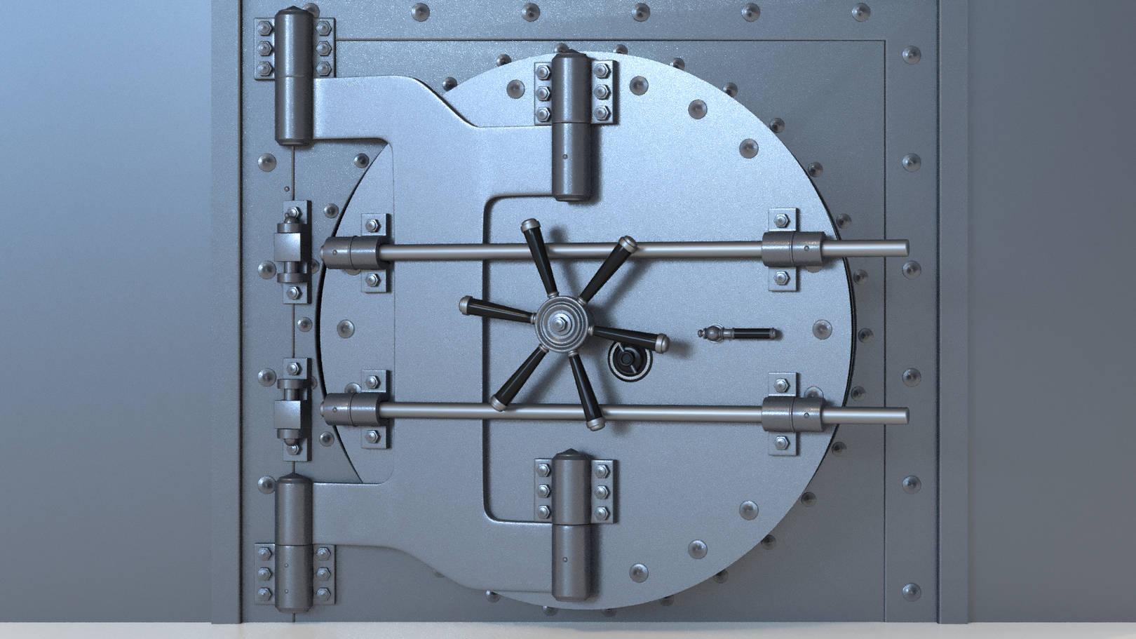 Анимация открывания сейфа.
