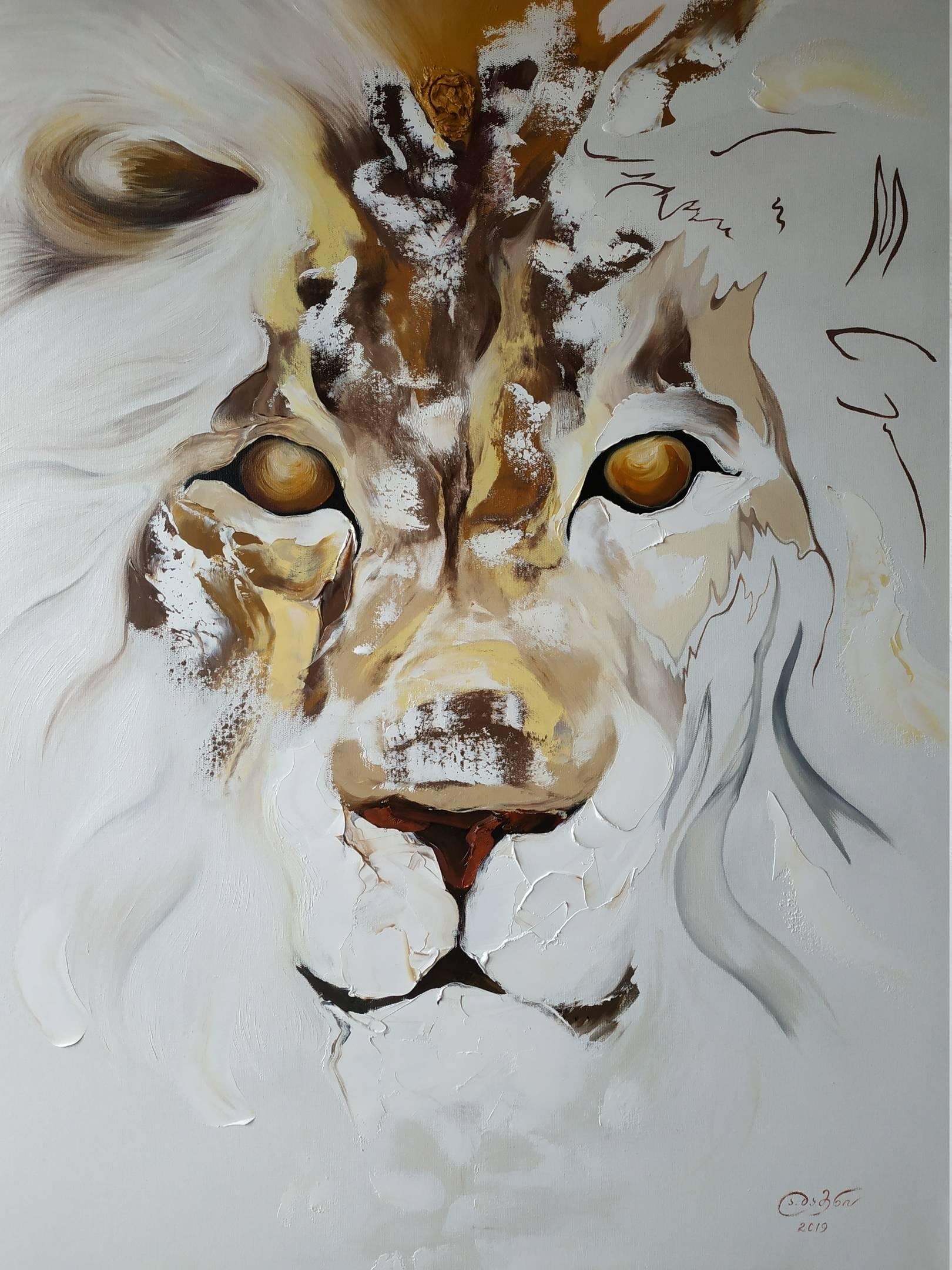 «Зодиакальный автопортрет»    холст, масло «Zodiac Self Portrait»                       oil on canvas    100x80, 2019