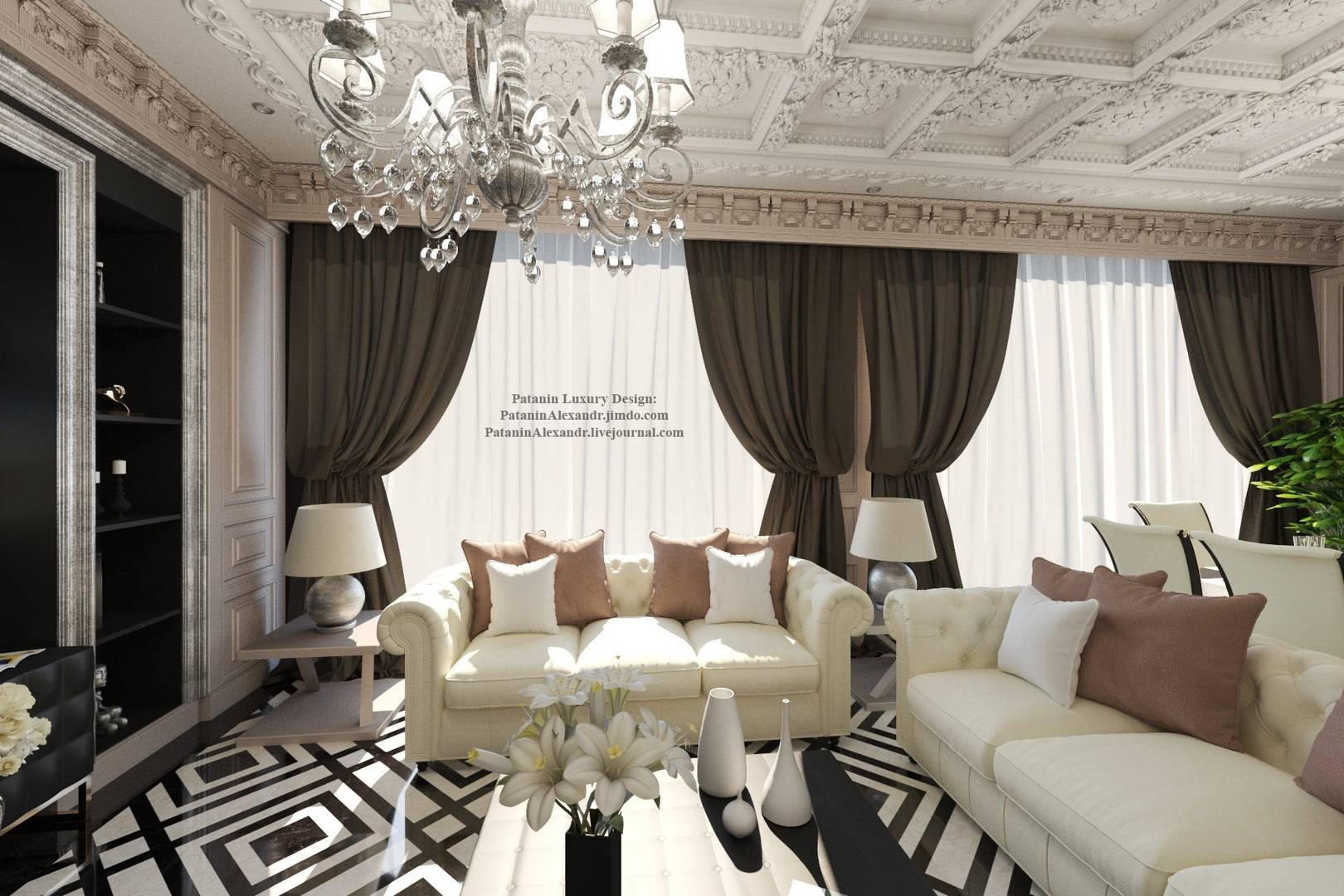 Gentlest living room. Нежность