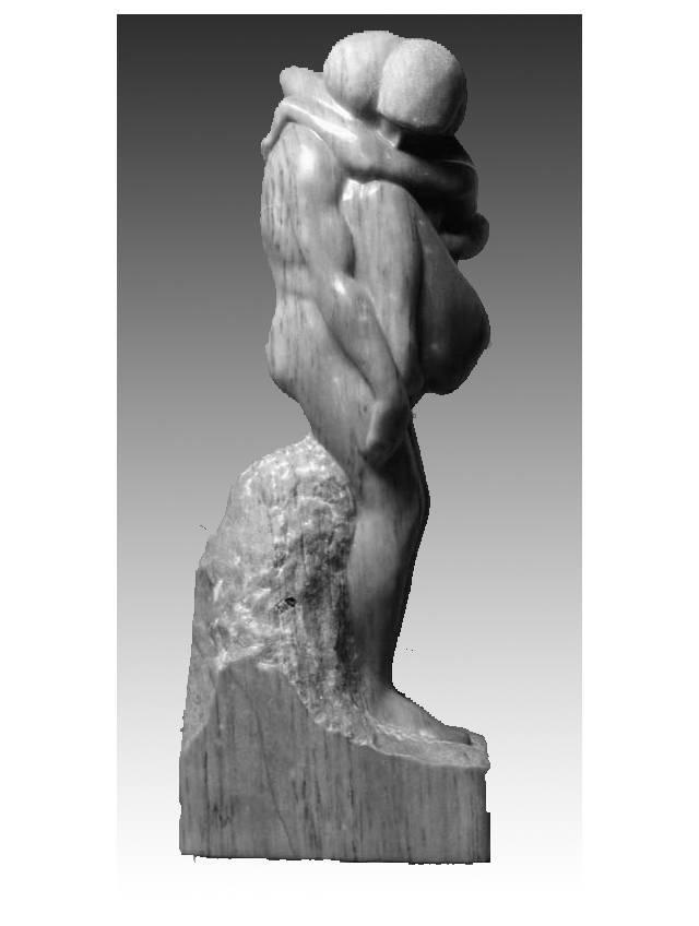 """""""Объятие"""" мрамор, 2010 г. 180х160х470мм."""
