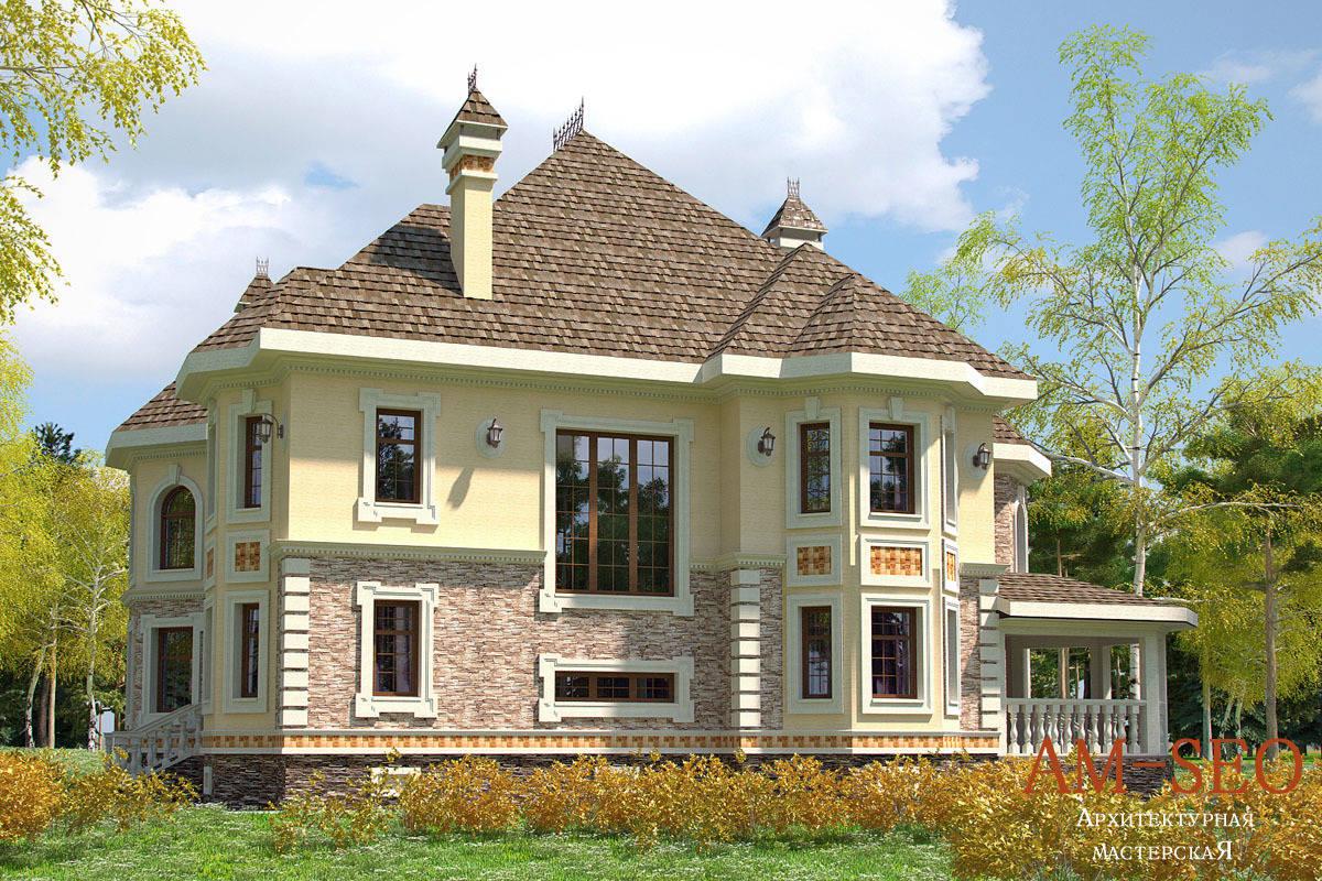"""Проект загородного дома в посёлке """"Ла-Манш"""" участок №193, Московская область, 2010"""