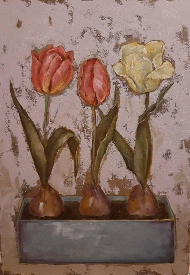 Тюльпаны Холст, масло 40х50