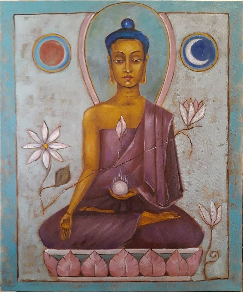 Будда Ратнасамбхава Холст, масло 50х60