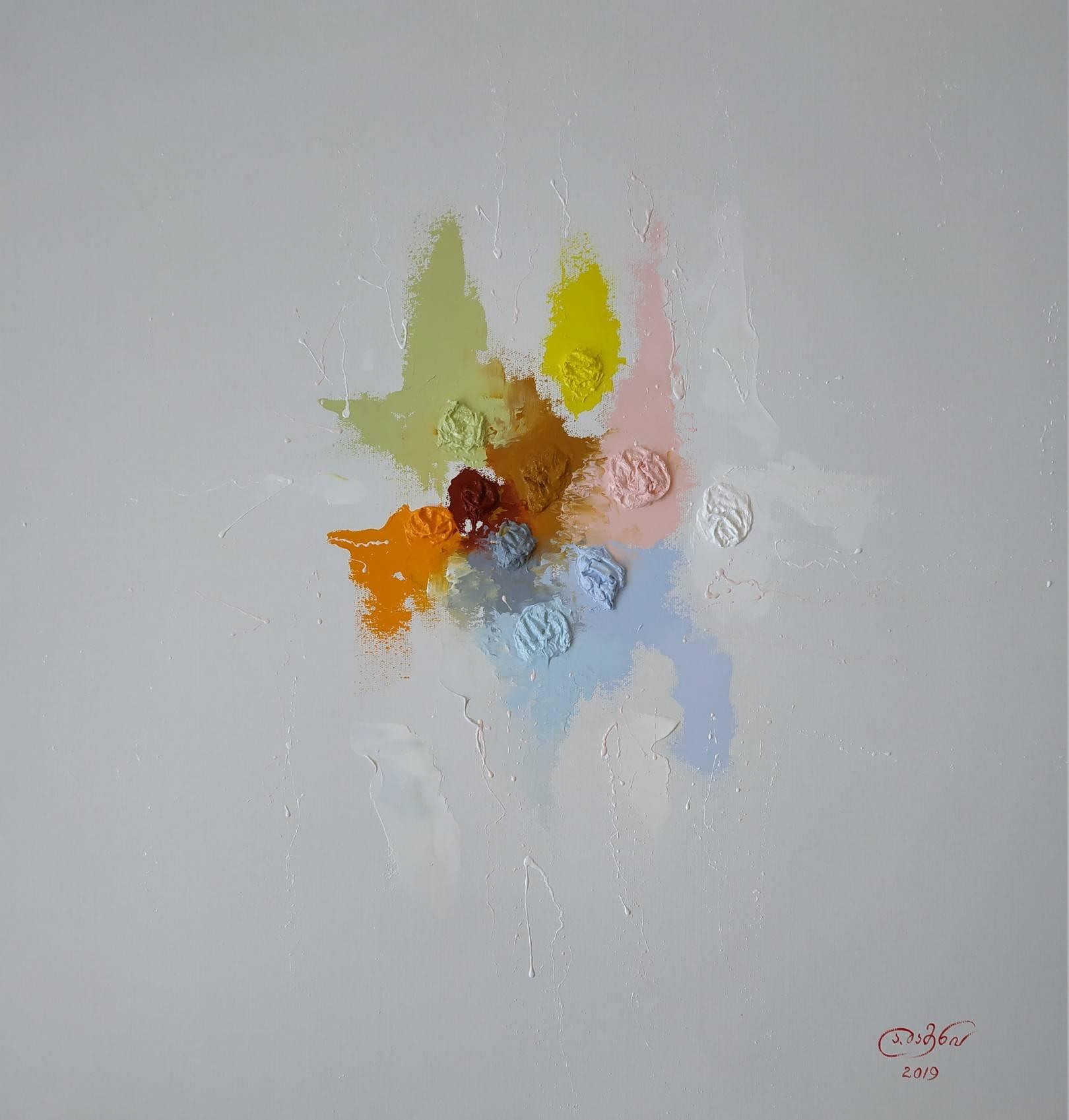 «Аромат весны»                             холст, масло «Spring fragrance»   oil on canvas  80x80,  2019