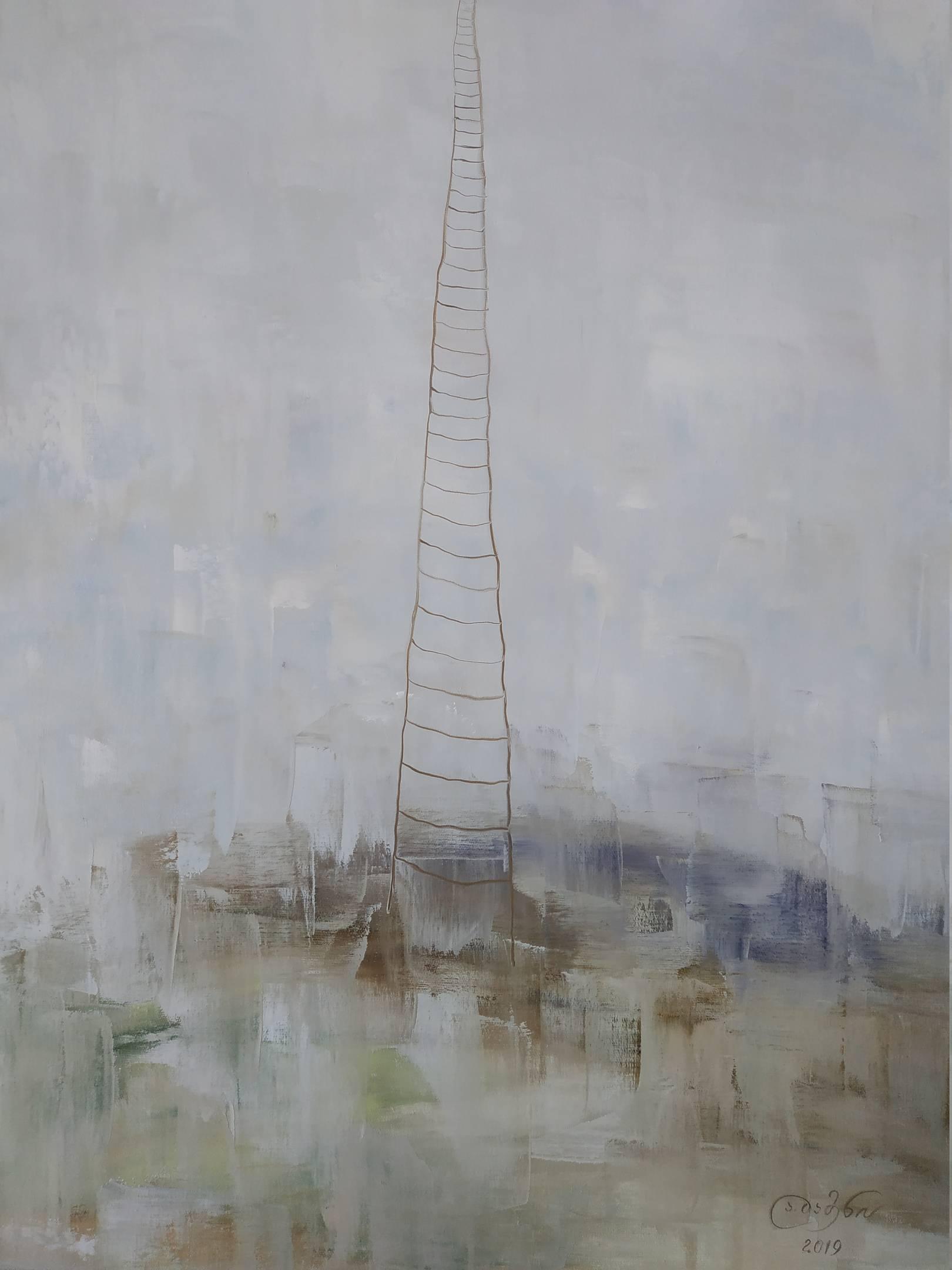 «Лестница на небеса»    холст, масло «Stairway to heaven»    oil on canvas                                                      80x60,  2019
