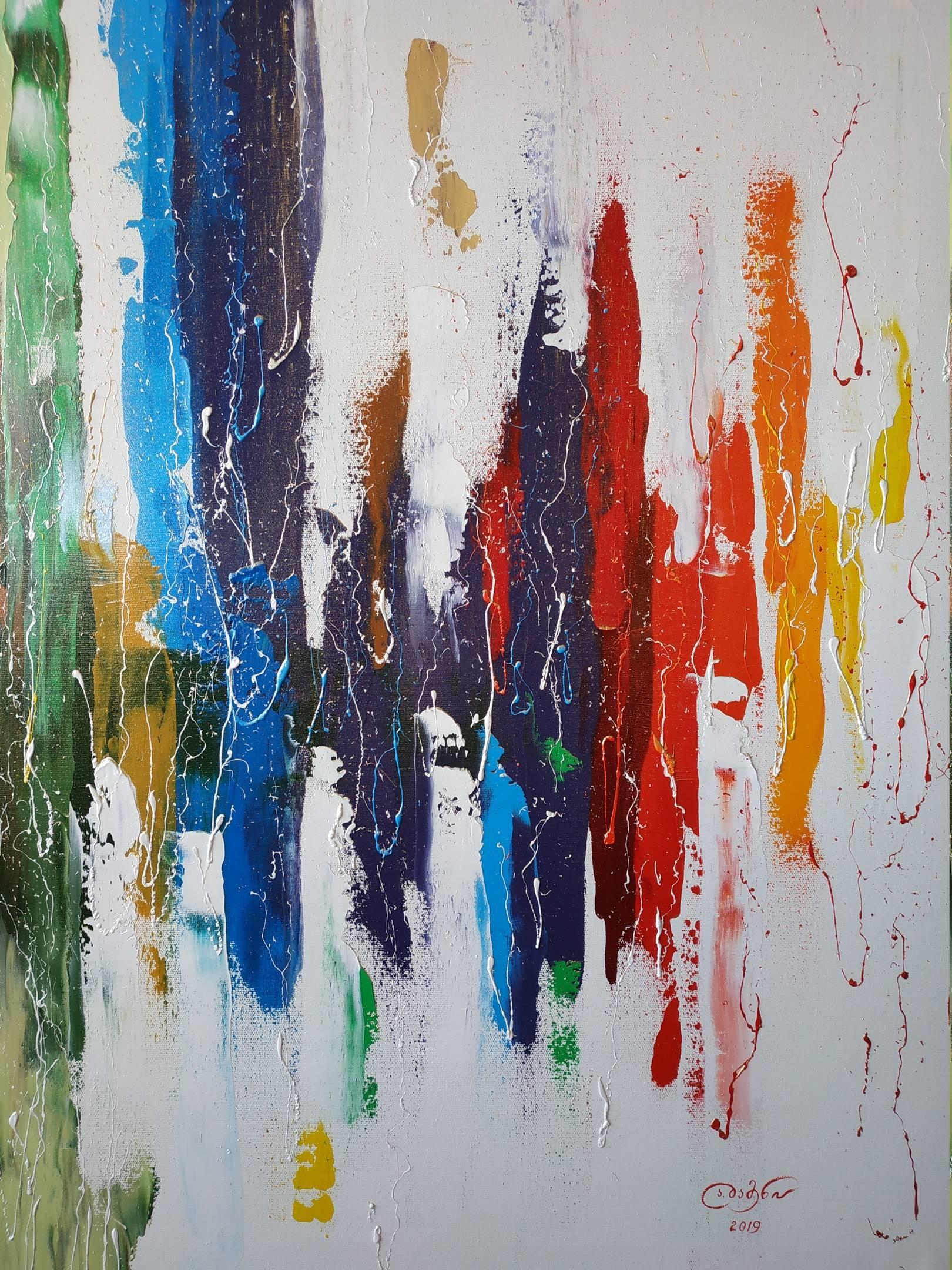 «Звуковая волна»  холст, масло «Sound wave»  oil on canvas  90x70,  2019