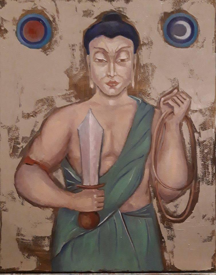 Будда Ачала. Холст, масло, 50х60