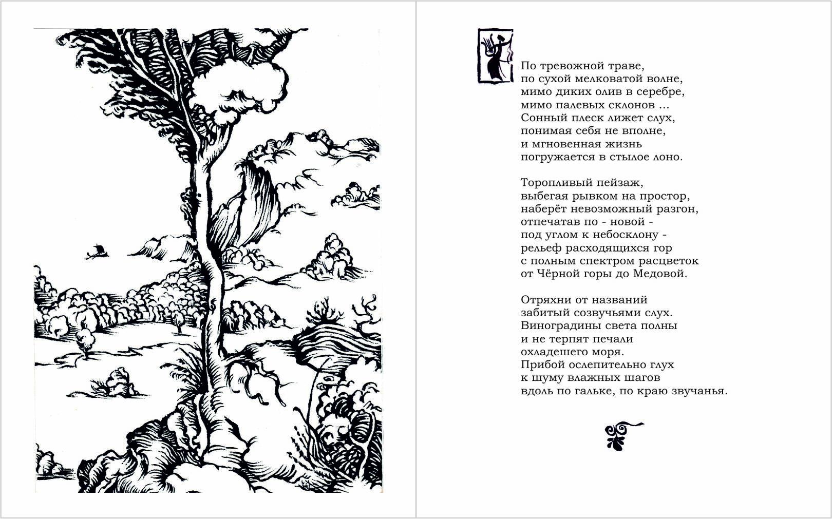 Иллюстрация  в сборник стихов.