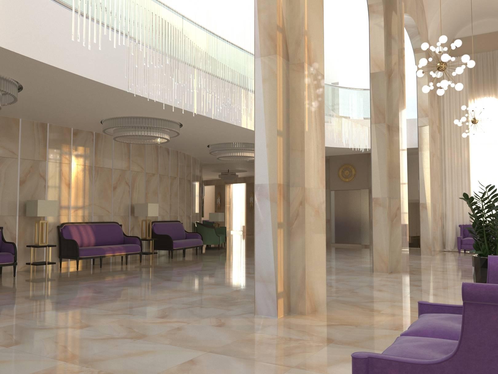 Фойе 1 этажа. Вид на второй свет