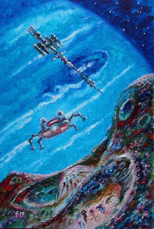 Исследователи Нептуна.Высадка на Деспину.