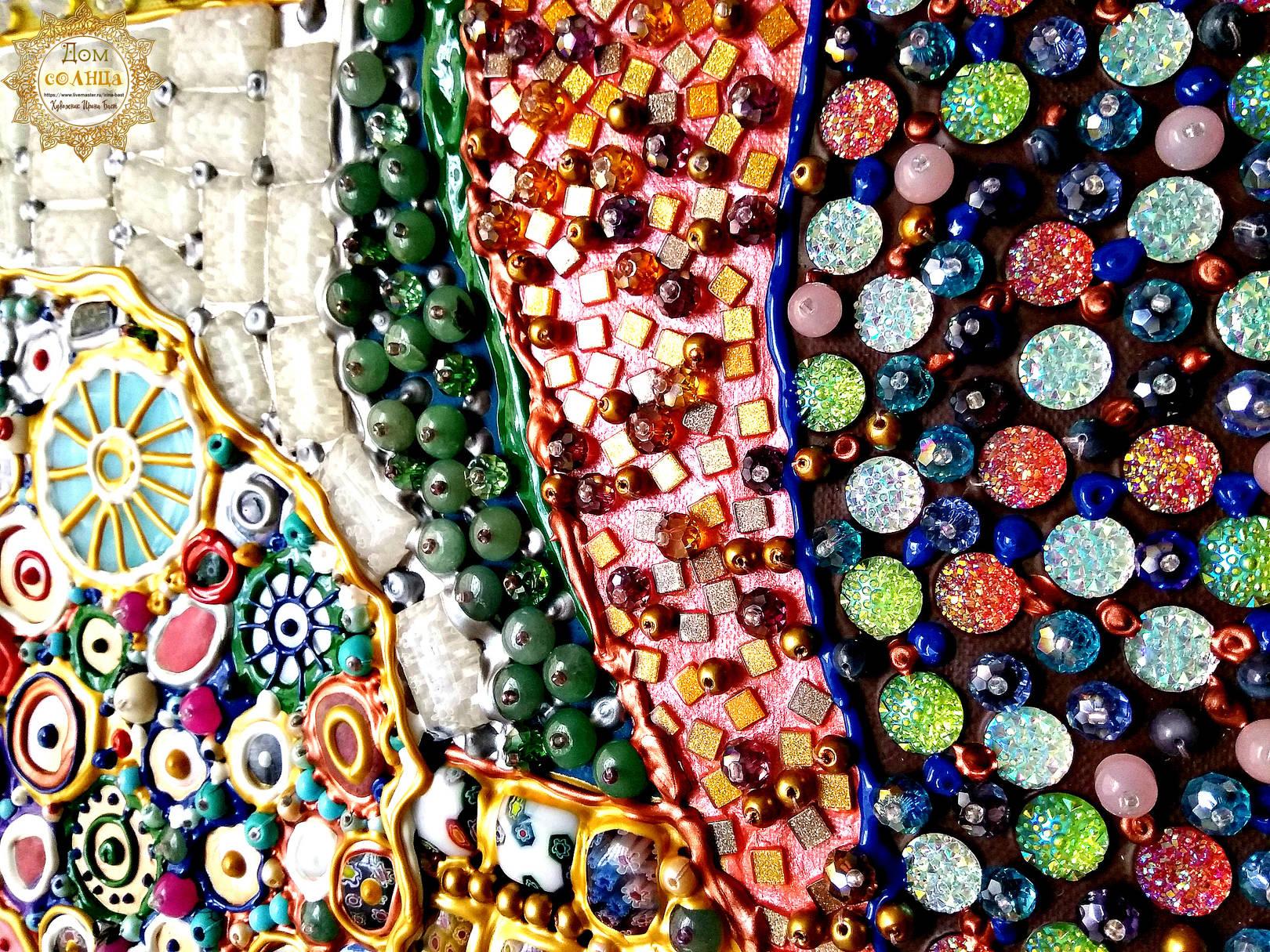 Панно из камней Букет цветов