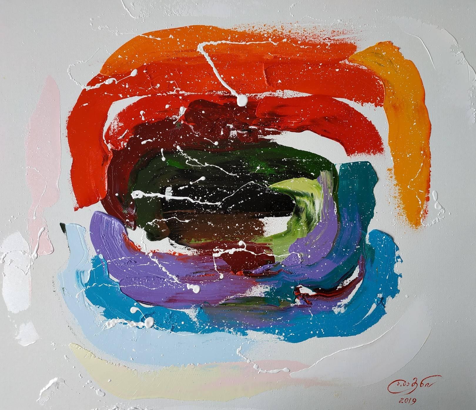 «Пространственно-временной портал»          холст, масло «Spatio-temporal portal»                     oil on canvas                                                      55x65,  2019