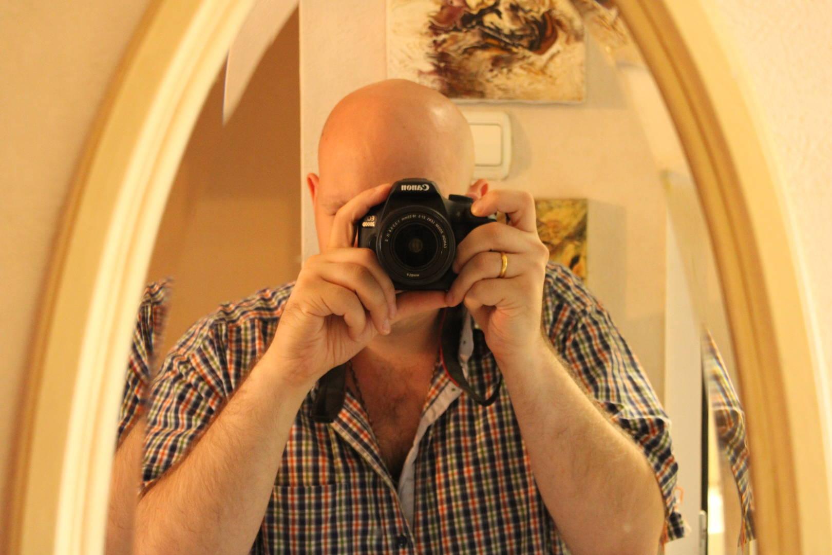 Автопортрет в зеркале