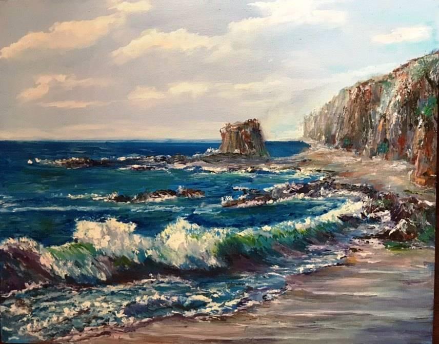Морская волна. Холст 500*380  2019г