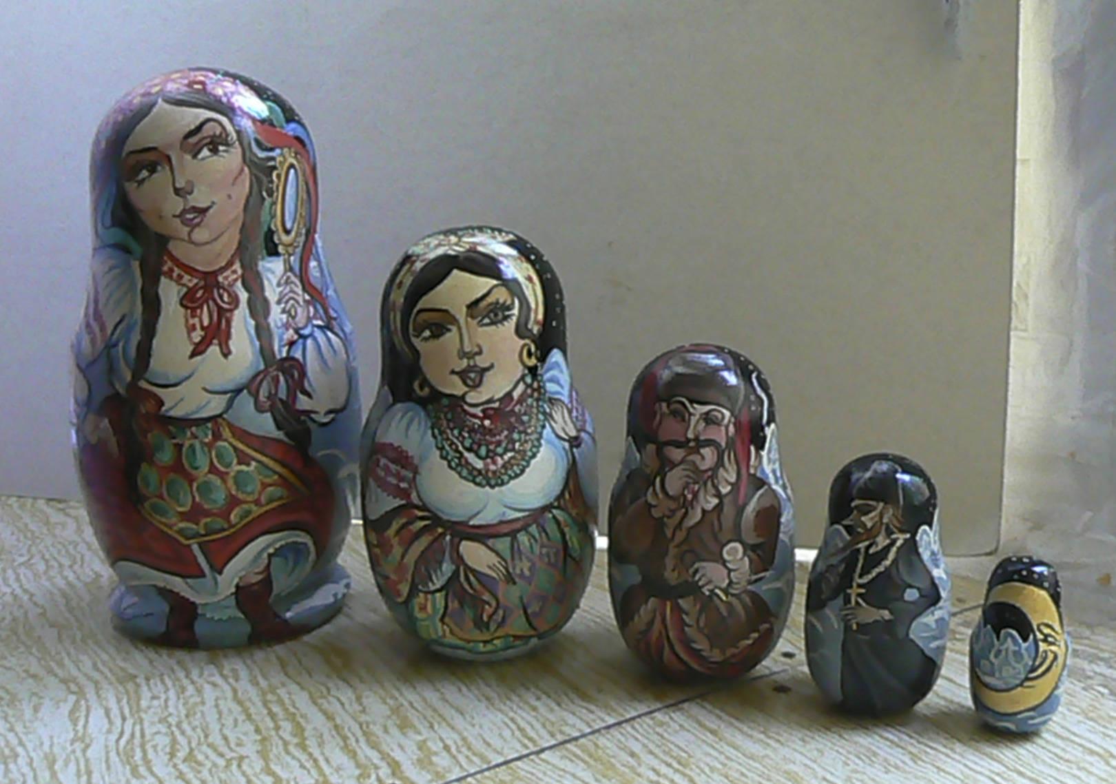 """Н.В. Гоголь """"Ночь перед Рождеством"""". Оксана, Солоха, Чуб, дьяк, месяц"""