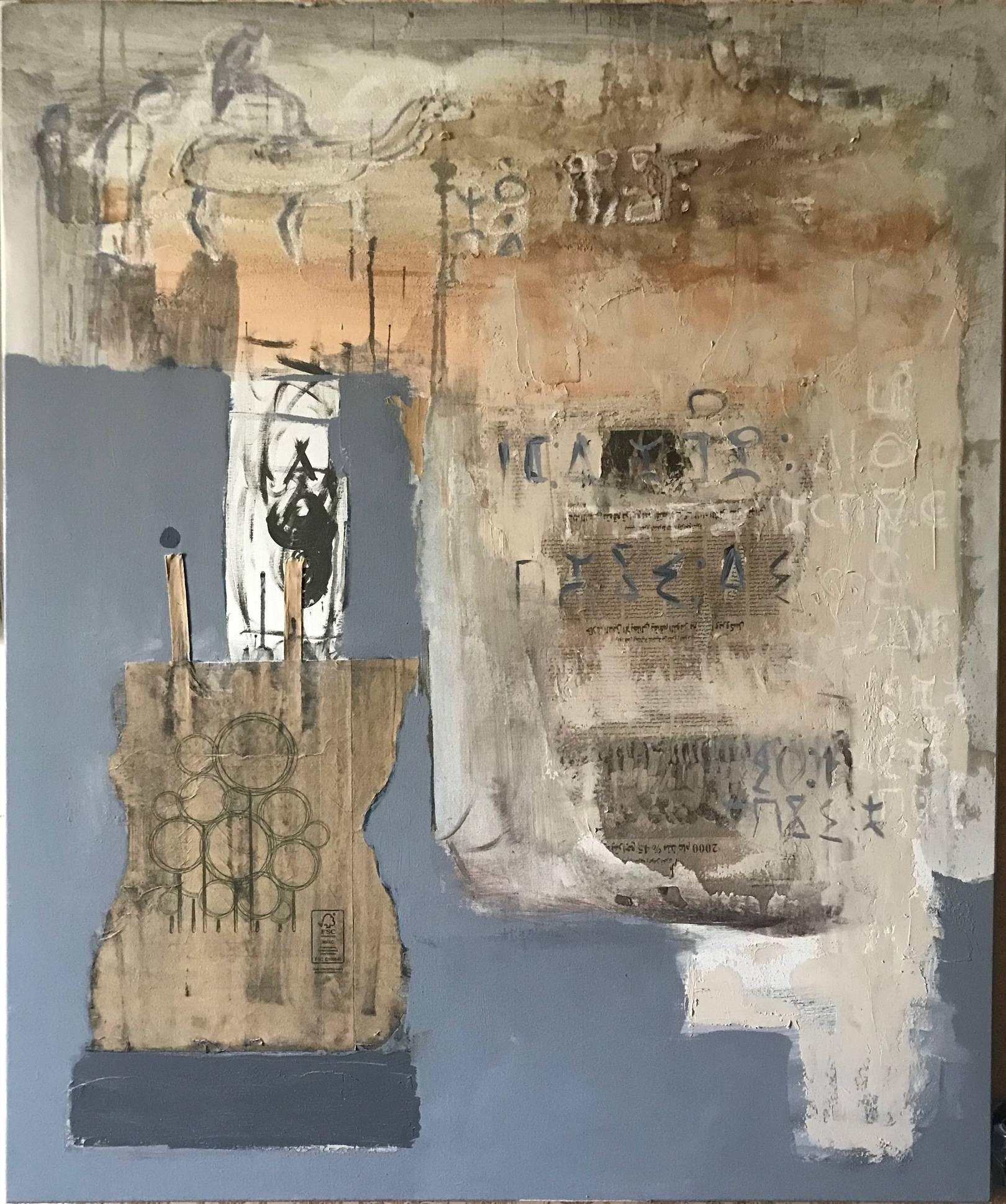 Magreb 2019 canvas 120X100 mixed media