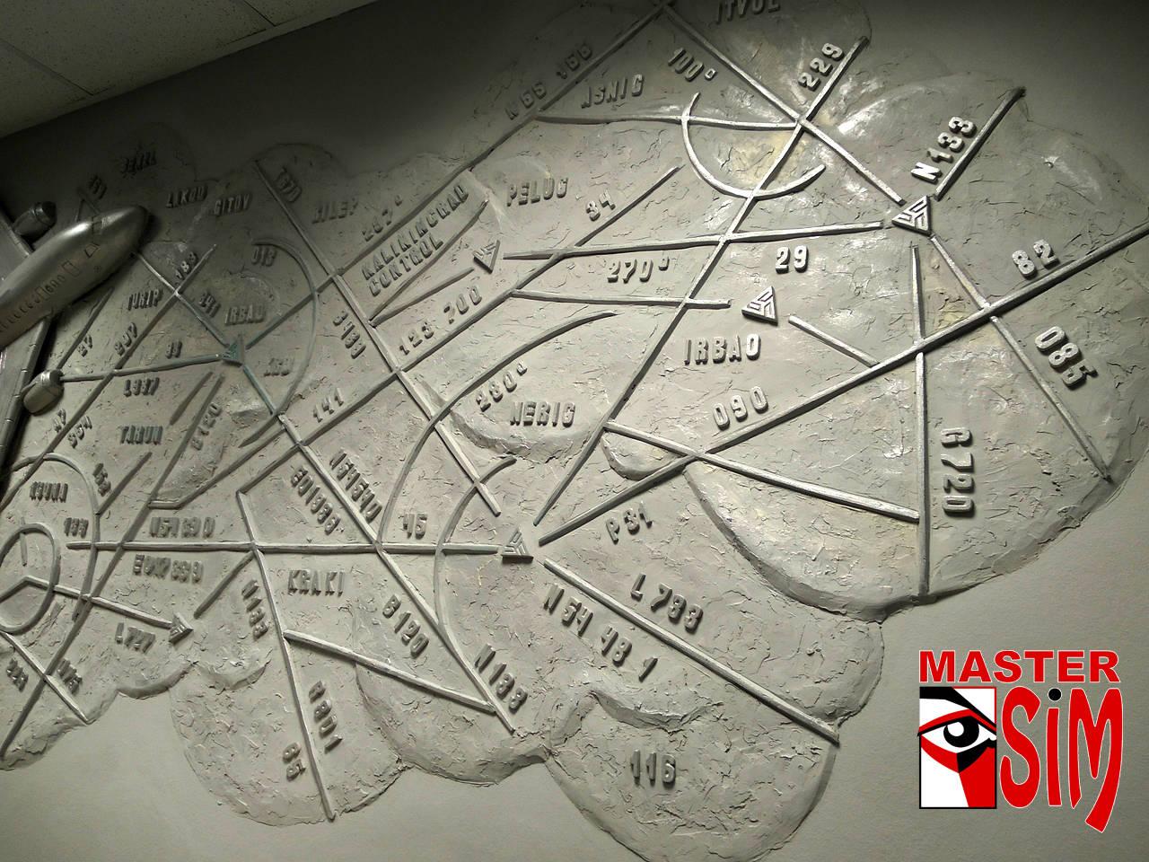 """Барельеф """"Карта"""""""