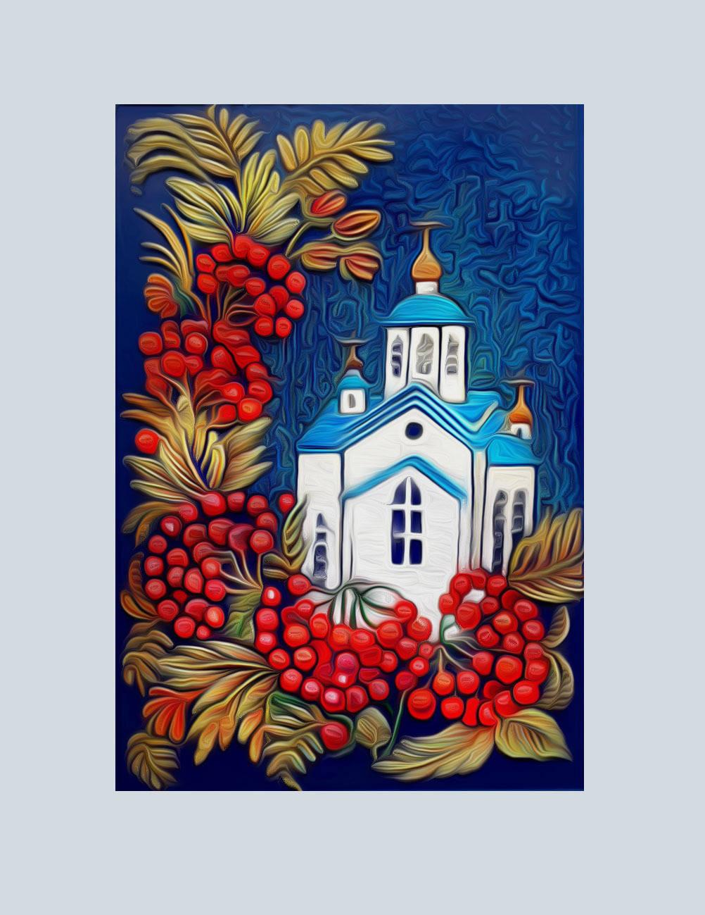 Церковь Святой Евдокии в поселке Сизая. Красноярский край.