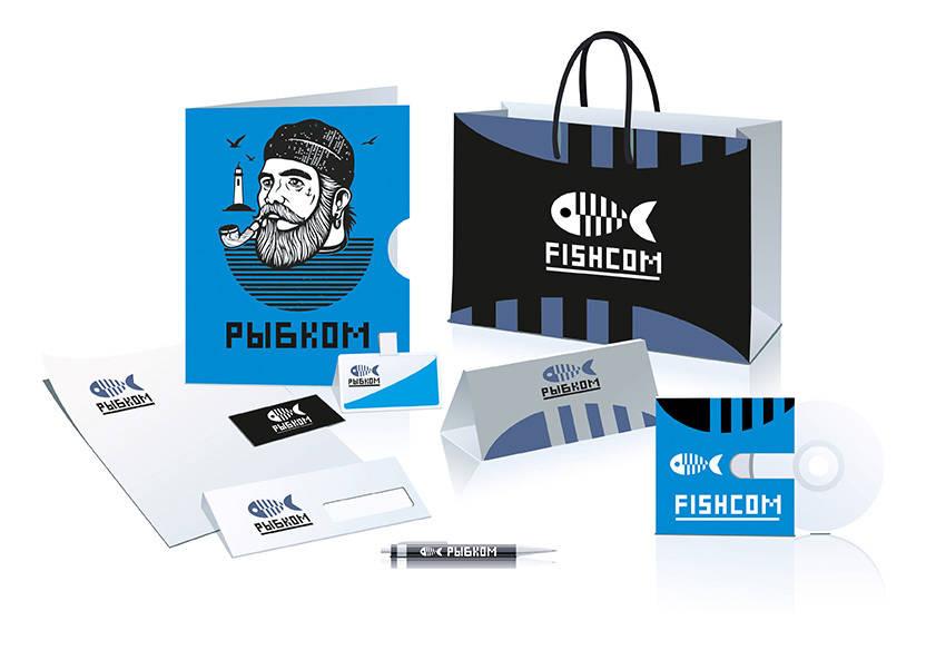 «Рыбком» - логотип и фирменный стиль