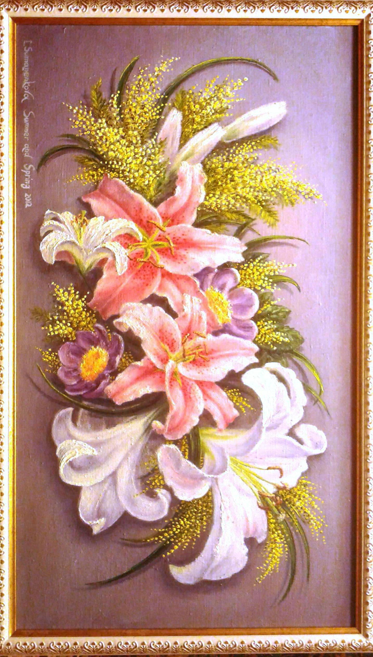 Лето и Весна / Summer and Spring 40 x 70 cм, холст, масло, 2012 г