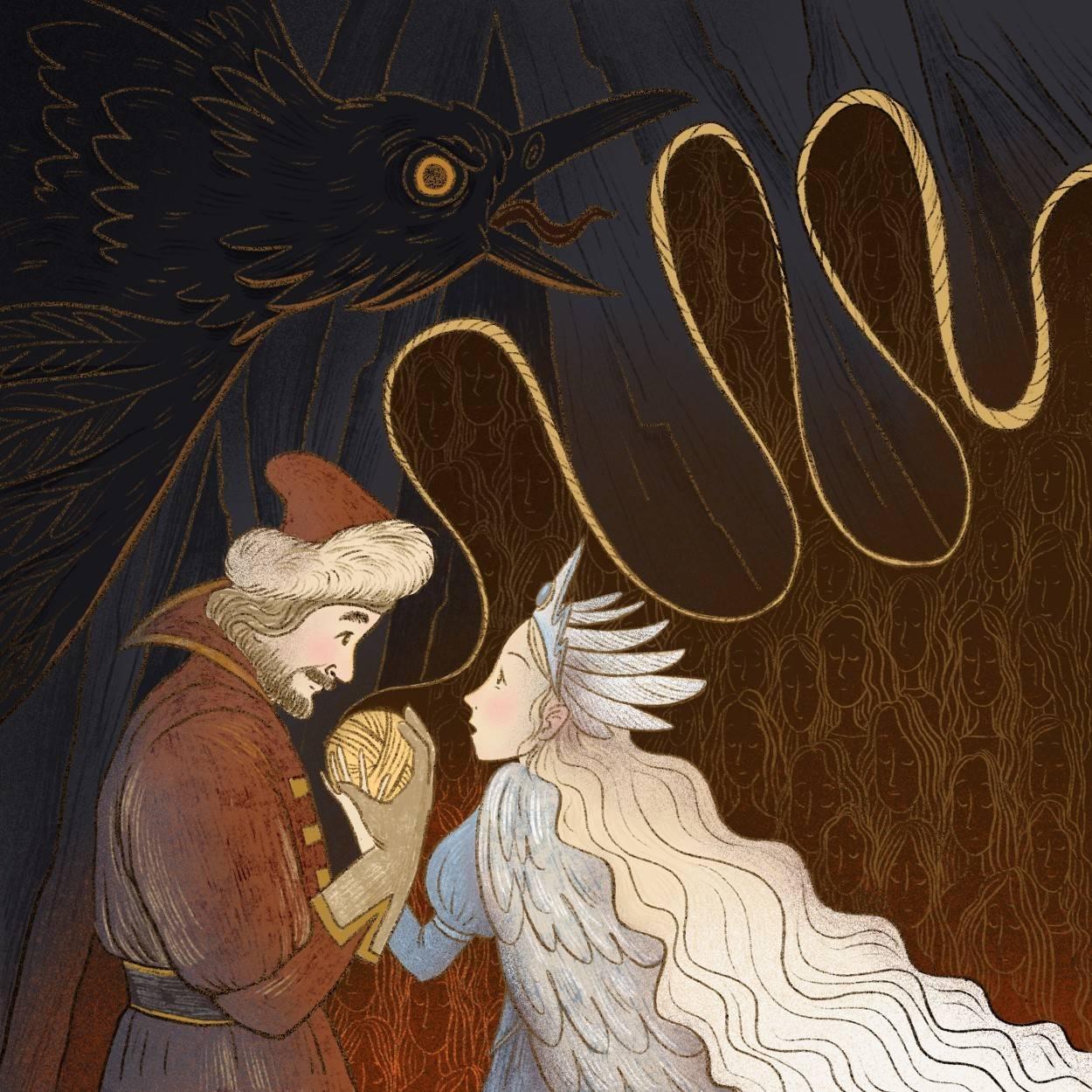 Картинки на сказку серебряное царство медное