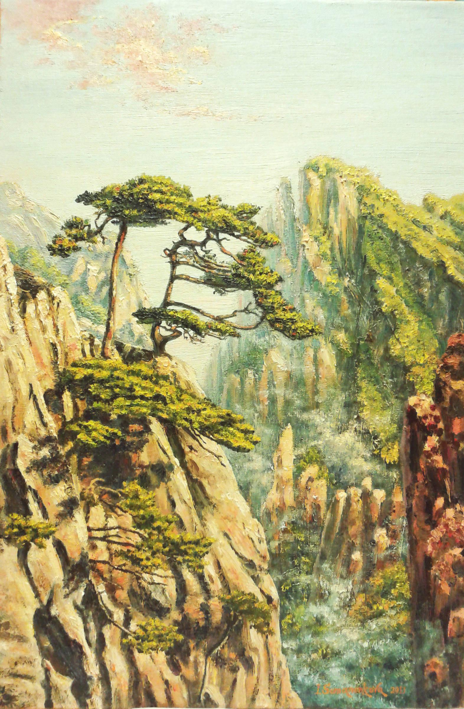 Воздушные горы Китая / Airy mountains of China 60 x 40 cм, холст, масло, 2013 г