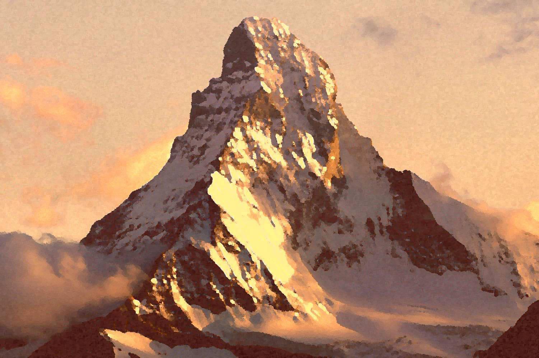 Гора Маттернхорн на закате / Mount Matterhorn at sunset 60 x 80 cм, холст, масло, 2003 г
