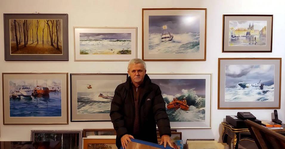 18 декабря, по приглашению известного коллекционера искусства и владельца галереи Норберта Сармулиса открыл свою персональную выставку,,Ретроспектива,,