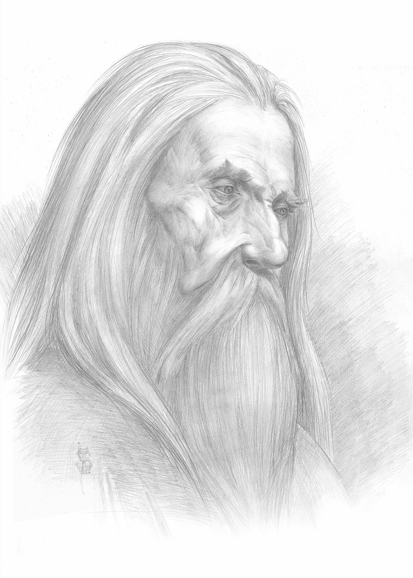 Портрет старого / Portrait of an old man 20 х 30 см, бумага, карандаш