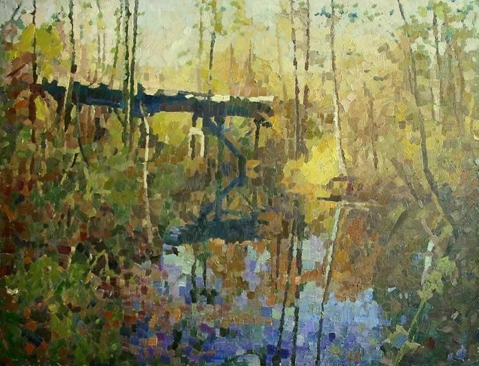 «Старый мост» холст, масло, 90х120 см, 2019
