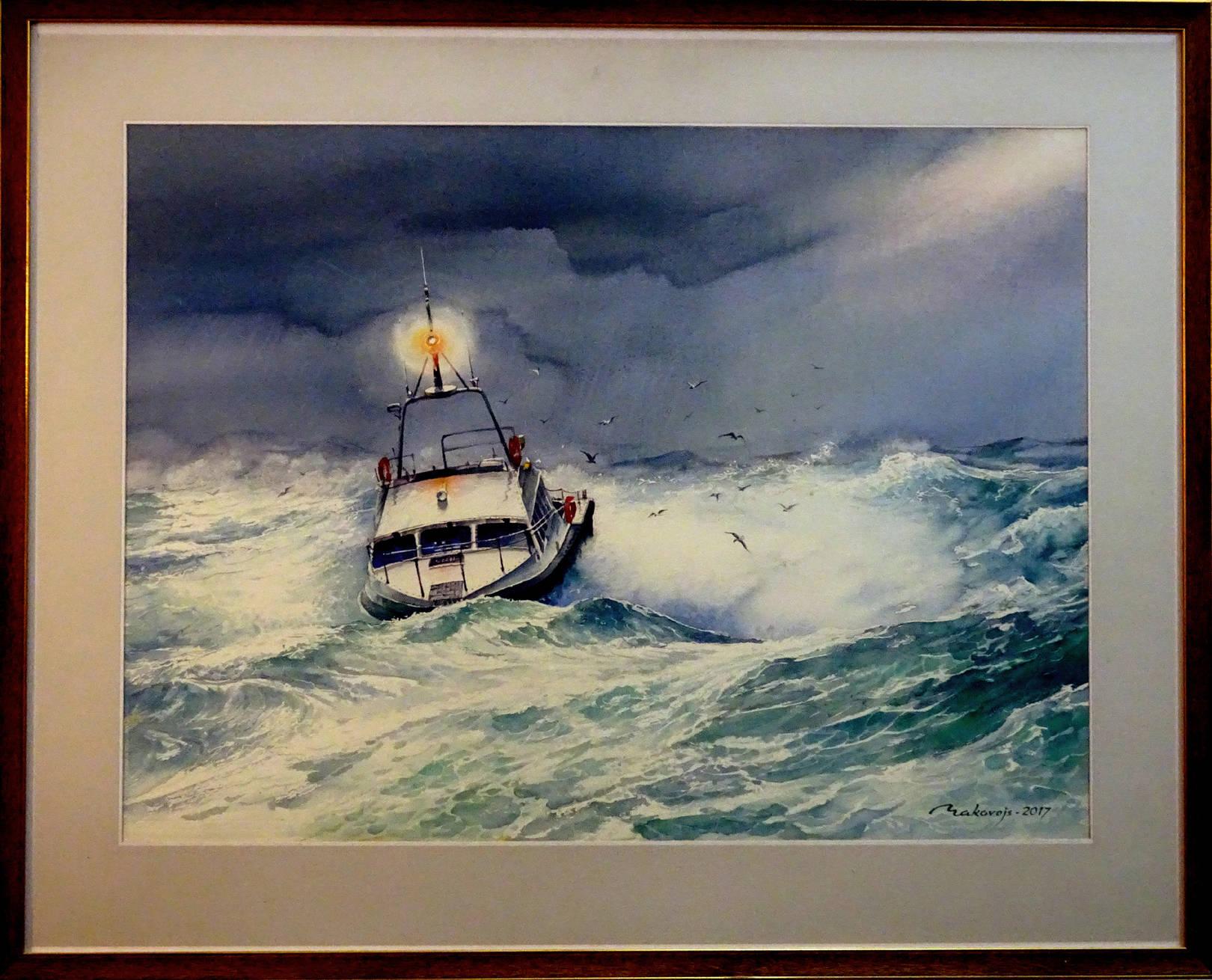 ,,Луч надежды,, Международная выставка морского пейзажа,,Marina 2016,, Юрмала,Латвия. Акв.большого формата.72x90 см.