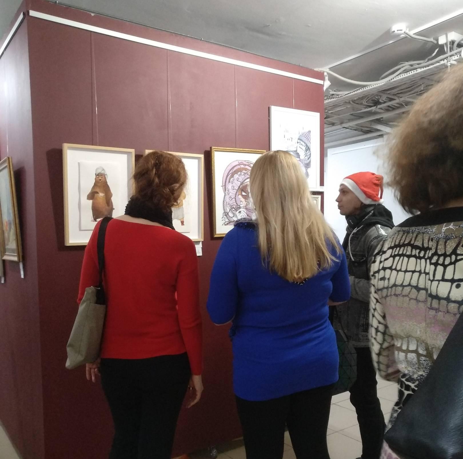 "На выставке ""Зима"", галерея W&P Gallery, г. Москва, декабрь, 2019 г."