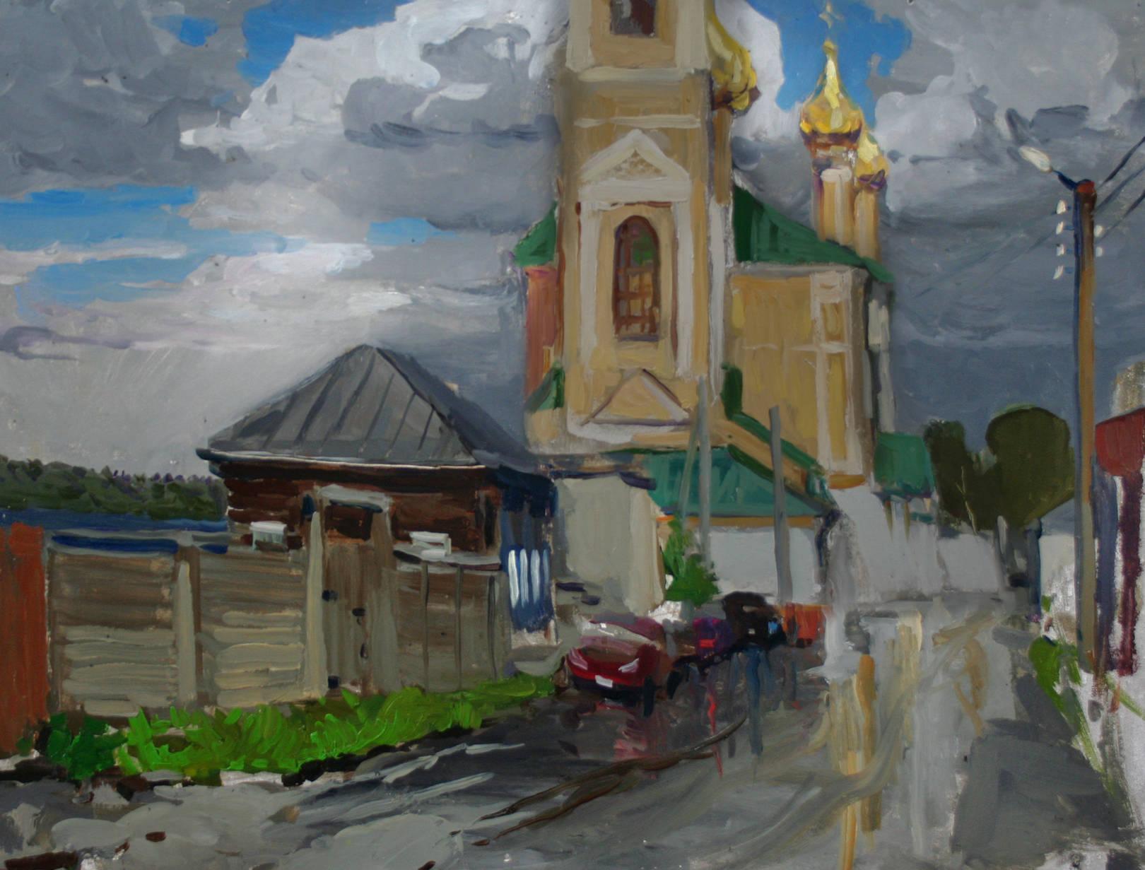 Олейников Сергей Николаевич. Золотой Плес. После дождя.