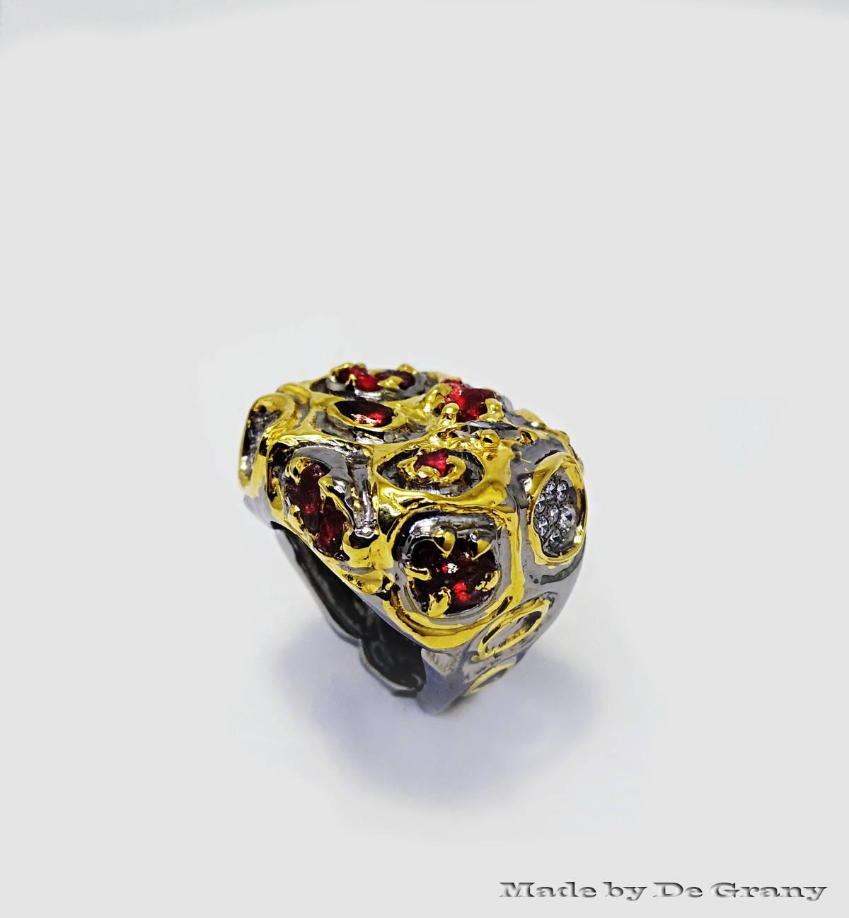 Ювелирный дизайн. Кольцо в стиле Бохо.