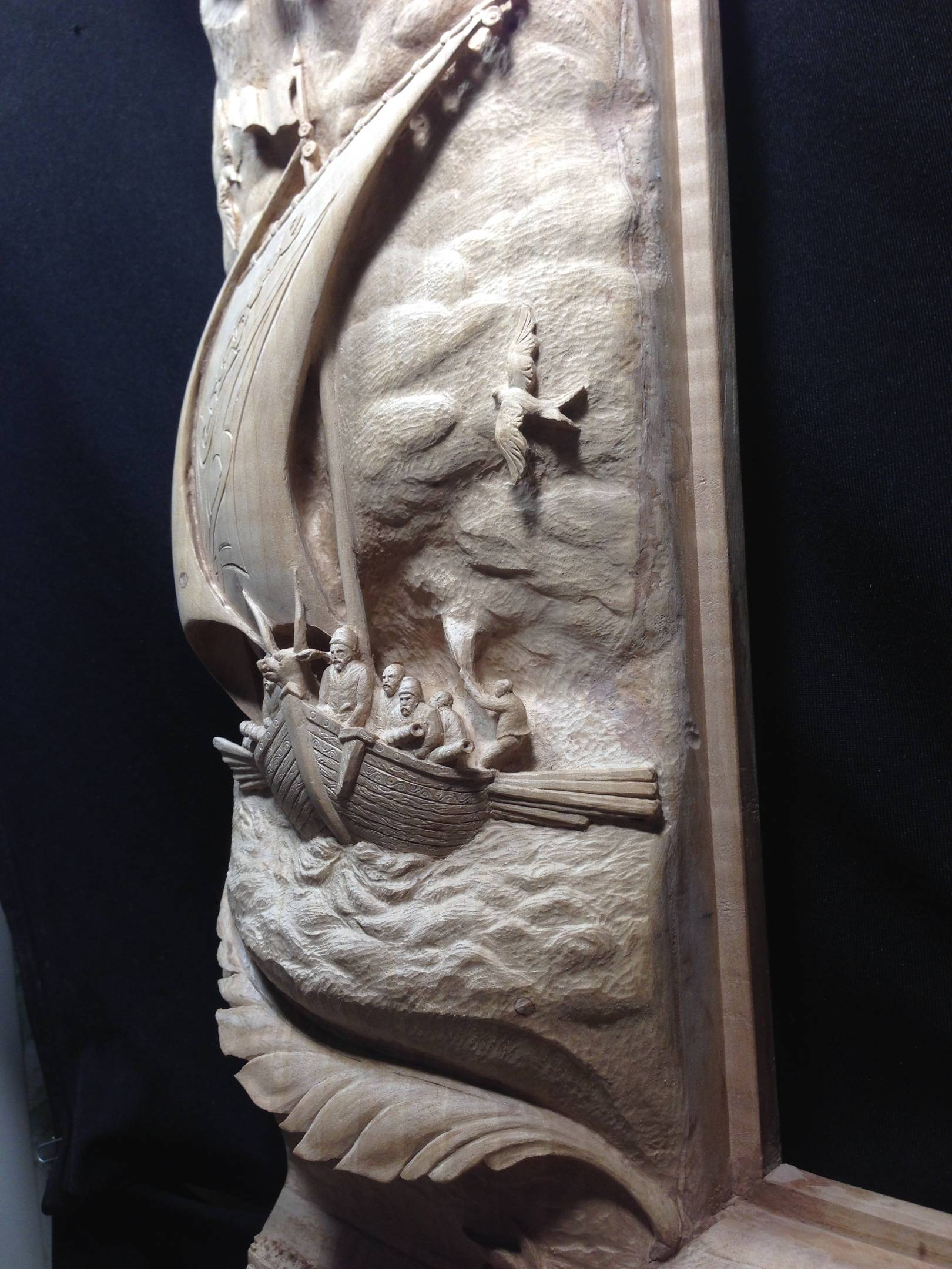 """Cossack Sea Coast Guard."" Material: pear. 2019 year. « Козацкий морской дозор». Материал: груша. 2019 год."