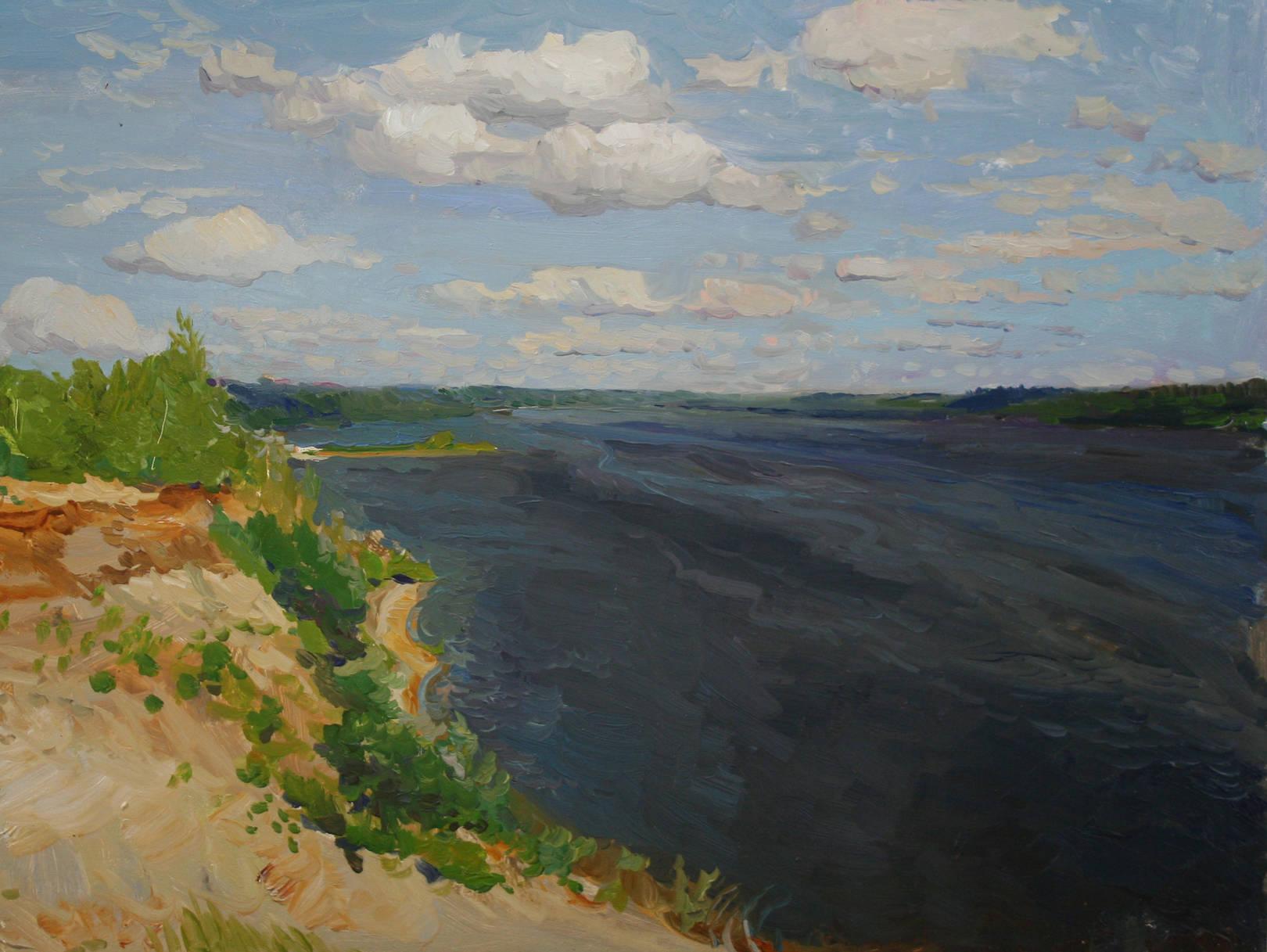 Олейников Сергей Ни колаевич. река Волга