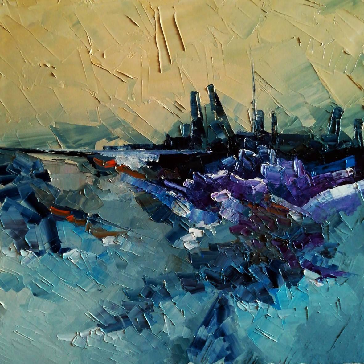 Puerto feo.2020 óleo espátula lienzo. 31.5 x 31.5 cm. http://bohemiogus.blogspot.com